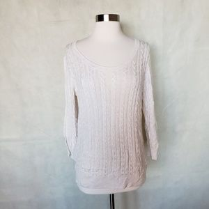 H&M cream cable knit lightweight sweater